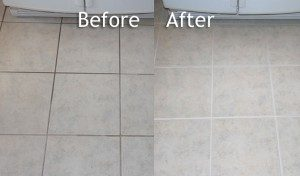 Before And After Our Impressive Tile & Grout Cleaning