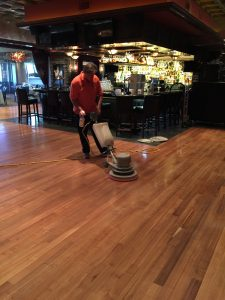 polished floors in restaurant