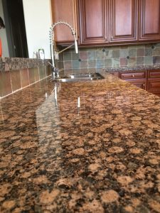 cleaned granite countertops