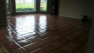 cleaned travertine stone floors